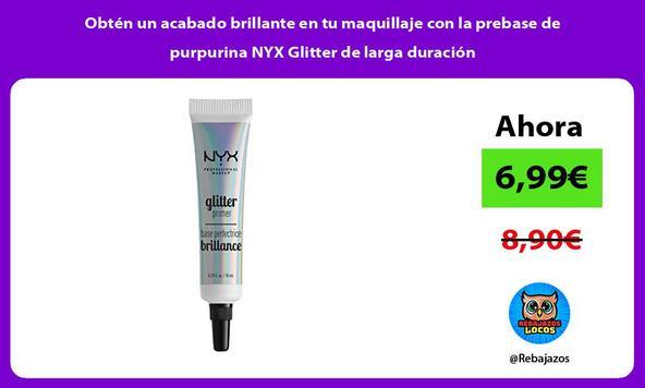 Obtén un acabado brillante en tu maquillaje con la prebase de purpurina NYX Glitter de larga duración