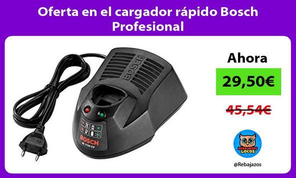 Oferta en el cargador rápido Bosch Profesional