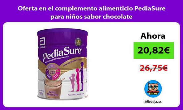 Oferta en el complemento alimenticio PediaSure para niños sabor chocolate