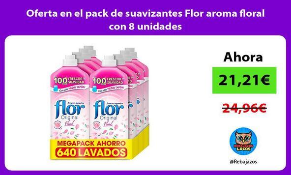 Oferta en el pack de suavizantes Flor aroma floral con 8 unidades