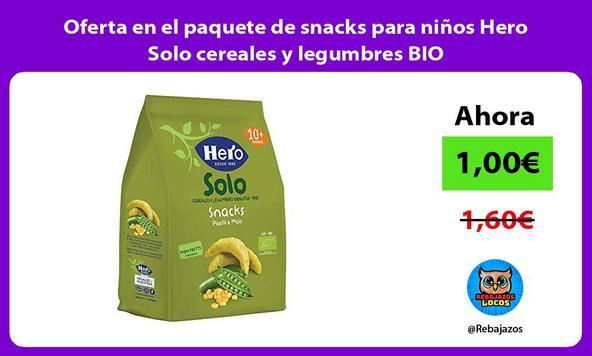Oferta en el paquete de snacks para niños Hero Solo cereales y legumbres BIO