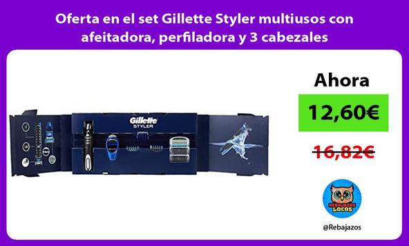 Oferta en el set Gillette Styler multiusos con afeitadora, perfiladora y 3 cabezales