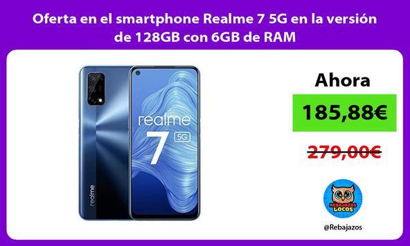 Oferta en el smartphone Realme 7 5G en la versión de 128GB con 6GB de RAM