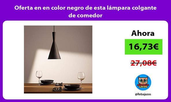 Oferta en en color negro de esta lámpara colgante de comedor