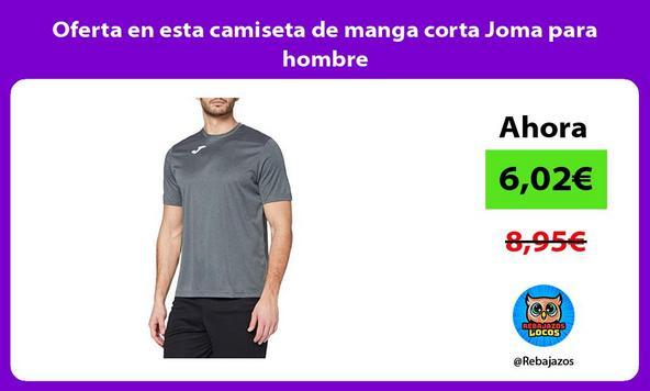 Oferta en esta camiseta de manga corta Joma para hombre