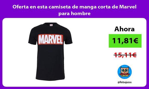 Oferta en esta camiseta de manga corta de Marvel para hombre
