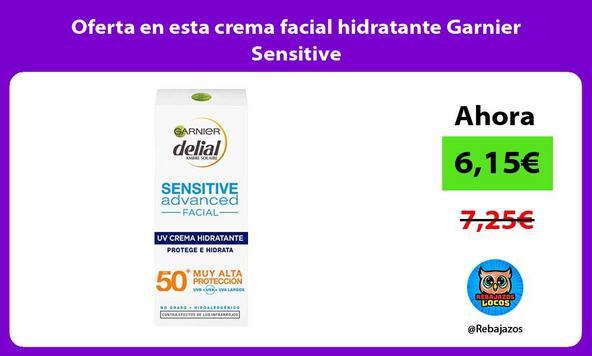 Oferta en esta crema facial hidratante Garnier Sensitive
