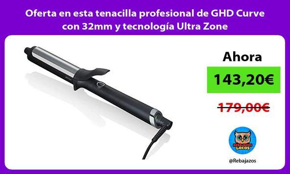 Oferta en esta tenacilla profesional de GHD Curve con 32mm y tecnología Ultra Zone