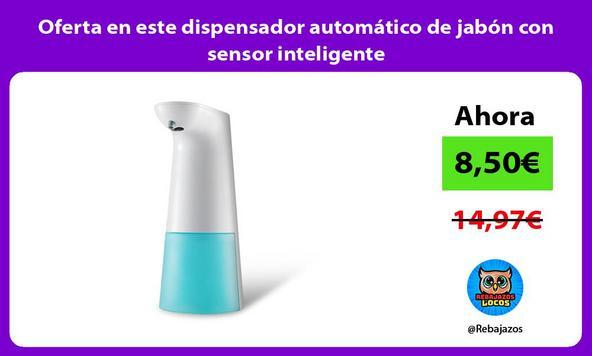 Oferta en este dispensador automático de jabón con sensor inteligente