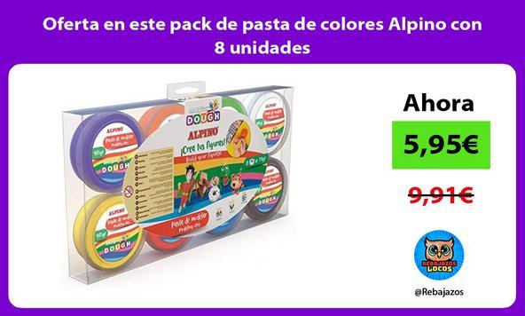 Oferta en este pack de pasta de colores Alpino con 8 unidades