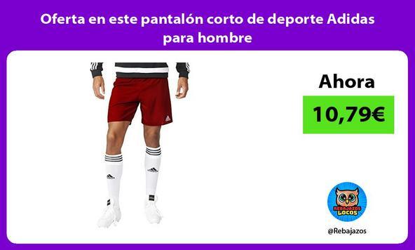 Oferta en este pantalón corto de deporte Adidas para hombre