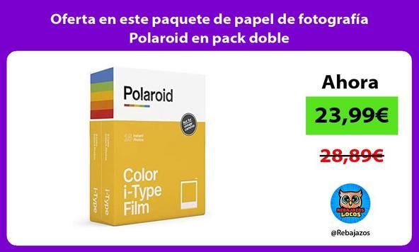 Oferta en este paquete de papel de fotografía Polaroid en pack doble