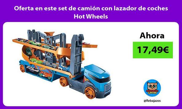 Oferta en este set de camión con lazador de coches Hot Wheels