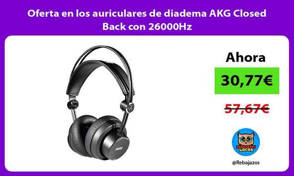 Oferta en los auriculares de diadema AKG Closed Back con 26000Hz