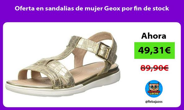 Oferta en sandalias de mujer Geox por fin de stock