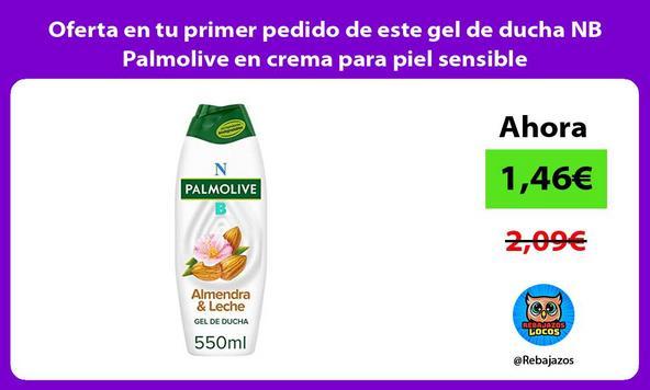 Oferta en tu primer pedido de este gel de ducha NB Palmolive en crema para piel sensible