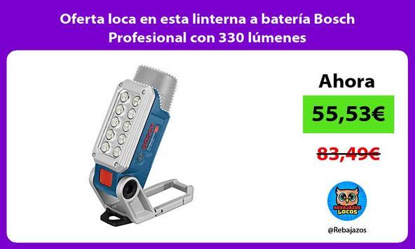 Oferta loca en esta linterna a batería Bosch Profesional con 330 lúmenes