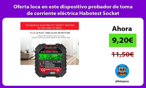 Oferta loca en este dispositivo probador de toma de corriente eléctrica Habotest Socket