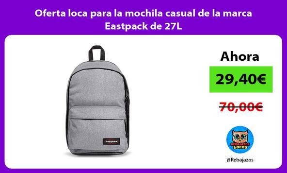 Oferta loca para la mochila casual de la marca Eastpack de 27L