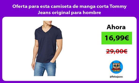 Oferta para esta camiseta de manga corta Tommy Jeans original para hombre