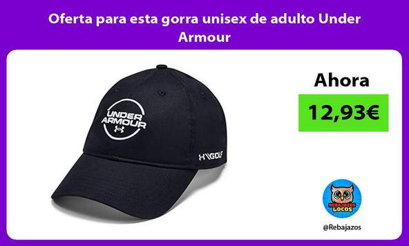 Oferta para esta gorra unisex de adulto Under Armour