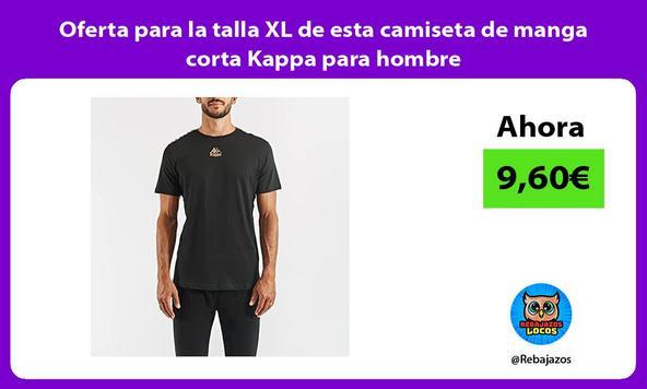 Oferta para la talla XL de esta camiseta de manga corta Kappa para hombre