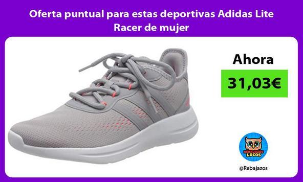 Oferta puntual para estas deportivas Adidas Lite Racer de mujer