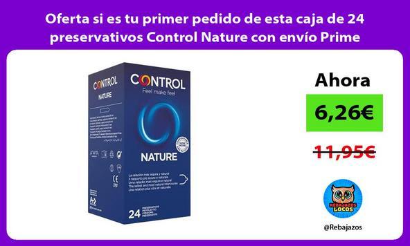 Oferta si es tu primer pedido de esta caja de 24 preservativos Control Nature con envío Prime