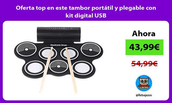 Oferta top en este tambor portátil y plegable con kit digital USB