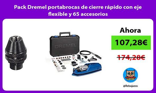Pack Dremel portabrocas de cierre rápido con eje flexible y 65 accesorios