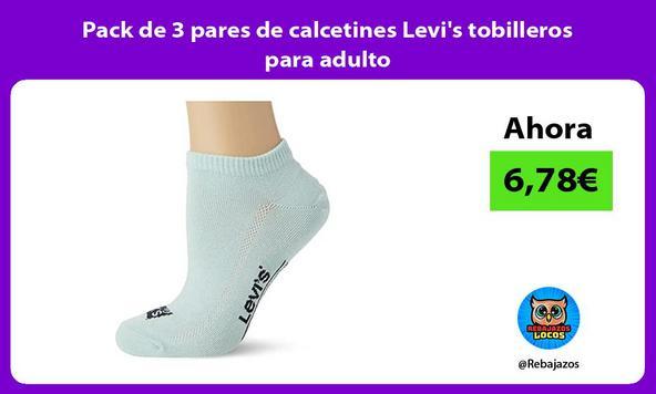 Pack de 3 pares de calcetines Levi's tobilleros para adulto