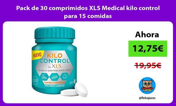 Pack de 30 comprimidos XLS Medical kilo control para 15 comidas