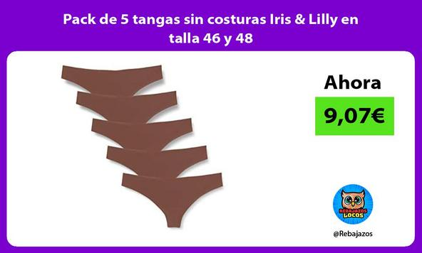 Pack de 5 tangas sin costuras Iris & Lilly en talla 46 y 48