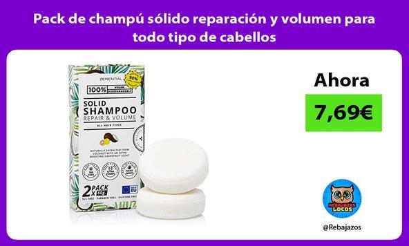Pack de champú sólido reparación y volumen para todo tipo de cabellos