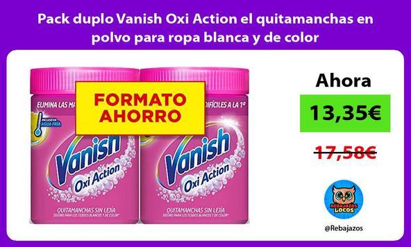 Pack duplo Vanish Oxi Action el quitamanchas en polvo para ropa blanca y de color