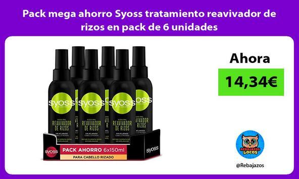 Pack mega ahorro Syoss tratamiento reavivador de rizos en pack de 6 unidades
