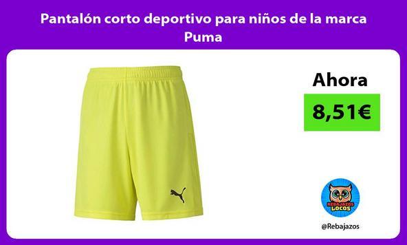 Pantalón corto deportivo para niños de la marca Puma/