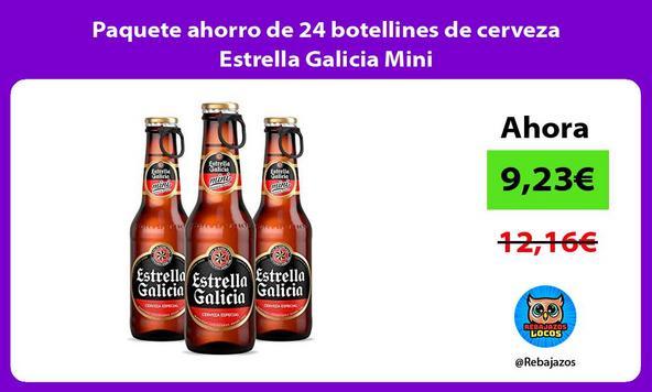 Paquete ahorro de 24 botellines de cerveza Estrella Galicia Mini