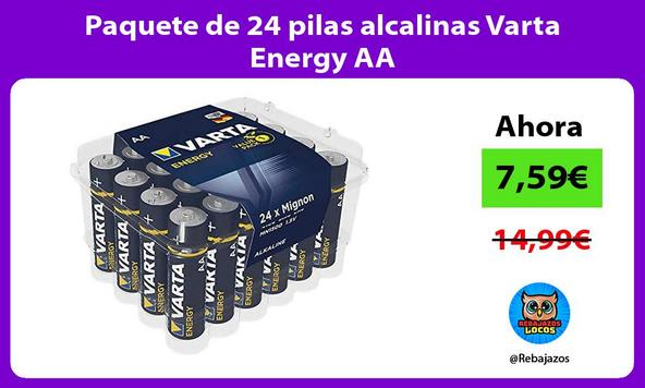 Paquete de 24 pilas alcalinas Varta Energy AA
