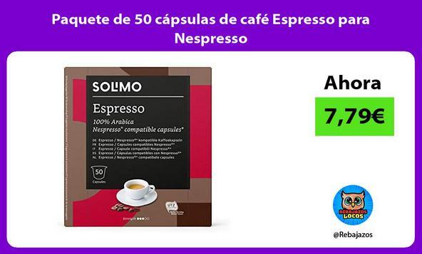Paquete de 50 cápsulas de café Espresso para Nespresso