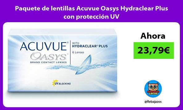 Paquete de lentillas Acuvue Oasys Hydraclear Plus con protección UV/