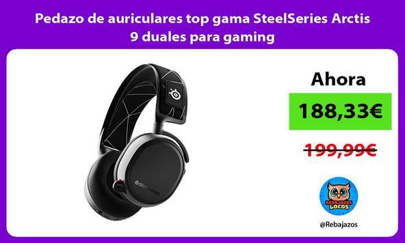 Pedazo de auriculares top gama SteelSeries Arctis 9 duales para gaming