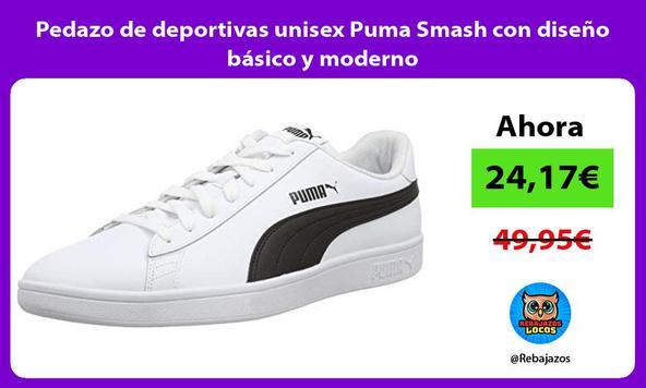 Pedazo de deportivas unisex Puma Smash con diseño básico y moderno