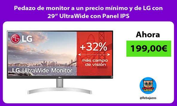 """Pedazo de monitor a un precio mínimo y de LG con 29"""" UltraWide con Panel IPS"""