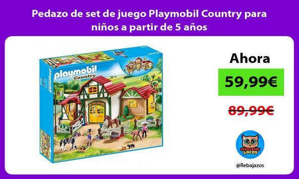 Pedazo de set de juego Playmobil Country para niños a partir de 5 años