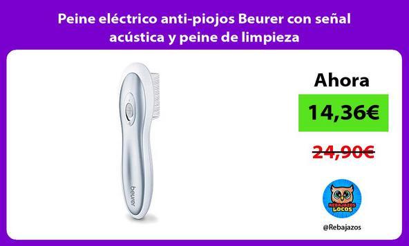 Peine eléctrico anti-piojos Beurer con señal acústica y peine de limpieza/