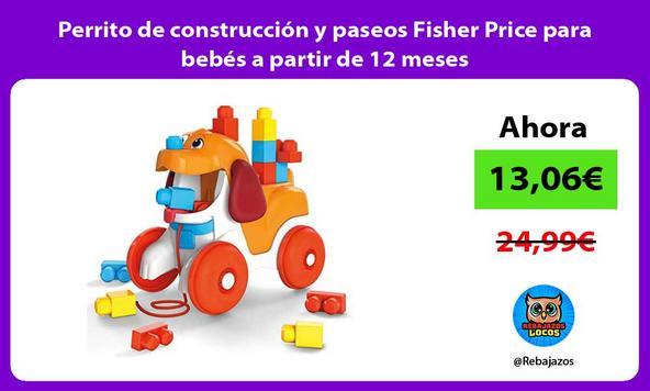 Perrito de construcción y paseos Fisher Price para bebés a partir de 12 meses
