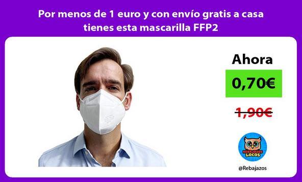 Por menos de 1 euro y con envío gratis a casa tienes esta mascarilla FFP2