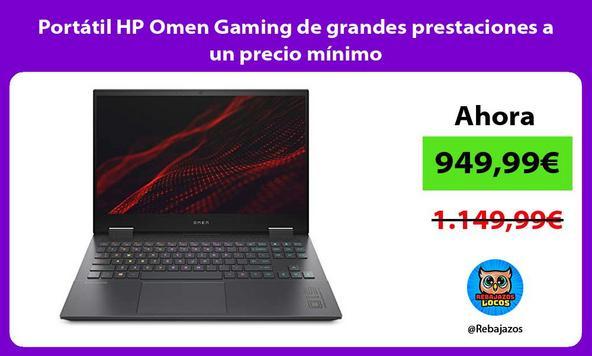 Portátil HP Omen Gaming de grandes prestaciones a un precio mínimo