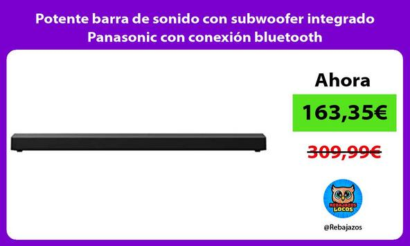 Potente barra de sonido con subwoofer integrado Panasonic con conexión bluetooth